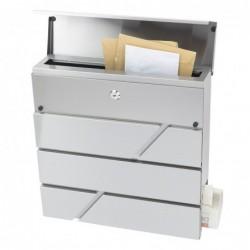 Briefkasten Zeitungsrolle Postkasten Designer Edelstahl